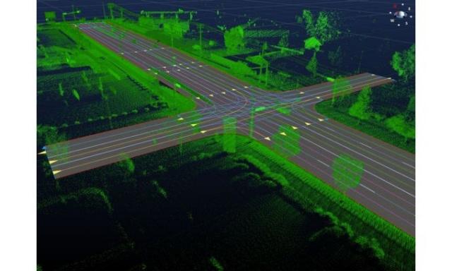 Построение глобальной 3D карты маршрутов